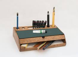 rustic wood desk organizer vintage mid century desk office