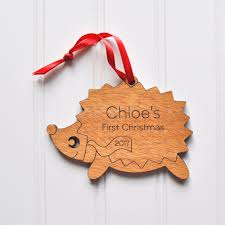 hedgehog wooden ornament graphic spaces