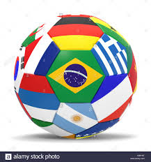 Football Country Flags 3d Render Of Football With Flags Representing All Countries Stock