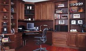 Simple Executive Home Office Design With Decorating - Custom home office designs