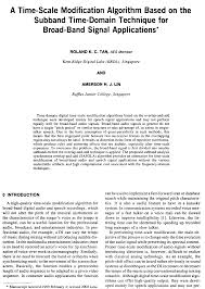 aes e library a time scale modification algorithm based on the