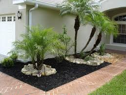 Modern Front Yard Desert Landscaping With Palm Tree And Best 25 Black Mulch Ideas On Pinterest Mulch Landscaping Black