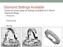 different types of wedding rings different types of 5 diamonds ring