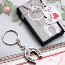 horseshoe wedding favors wedding favor horseshoe key chain favors key chain