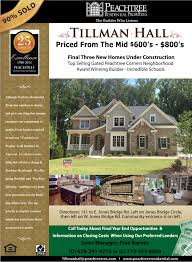 New Homes Decorated Models by Tillman Hall Articles Peachtree Residential