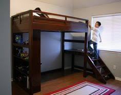 ana white camp loft bed w stairs diy projects favorite loft