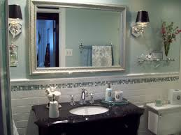 bathroom with wainscoting ideas bathroom mid century bathroom mirrors design ideas with exposed