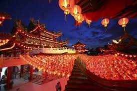 lunar new year lanterns lantern festival marked with comet and lunar eclipse