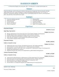 management cv examples cv templates livecareer