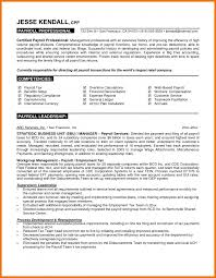 5 payroll resume assistant cover letter
