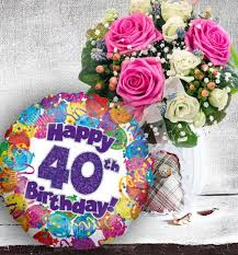 40th birthday delivery 40th birthday flowers and balloon available for uk wide delivery