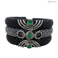 leather bracelet jewelry images Diamond leather bracelet leather jewelry abhaas jewels JPG
