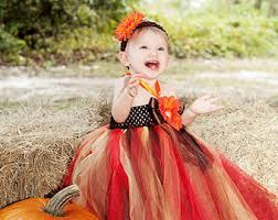 baby couture fall brown orange thanksgiving harvest