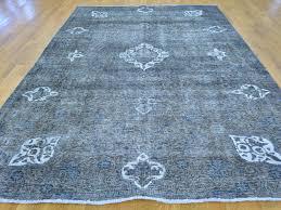 7 u0027 x 10 u0027 handmade overdyed grey persian tabriz barjasta oriental