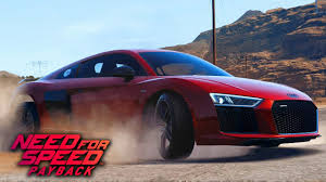 audi r8 slammed need for speed payback audi r8 v10 plus gameplay