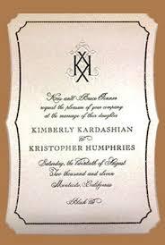Wedding Invitations Cost Wedding Of Kim Kardashian Vs Average Us Bride U2013 An Interesting