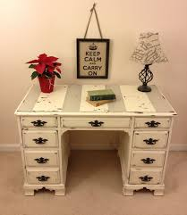 distressed white desk freedom to