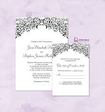 Invitation Card With Rsvp Free Pdf Wedding Downloads Filigree Top Border Invitation And