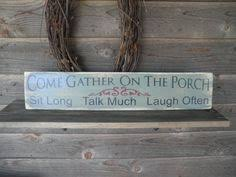 Outdoor Decorative Signs Porch Rules Sign Patio Rules Sign Wood Sign Primitive Home