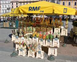 palm sunday palms for sale easter in krakow