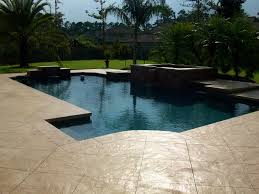 stamped concrete pool deck by bomanite international society