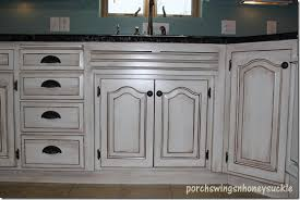 Kitchen Glazed Cabinets Paint And Glaze Cabinet Tutorial Around The House Pinterest