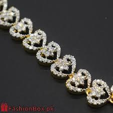 bracelet diamond style images Gold plated bracelet diamond style jb010 fashionbox pk jpg