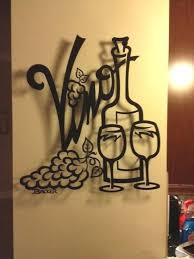 transitional home decor wall paintings for home decoration vino for two metal wall art