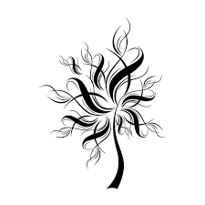 tree silhouette ornament graphics design svg by vectordesign on zibbet