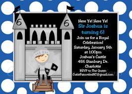 knight birthday invitation printable or printed 1st