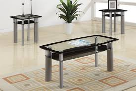 interesting modern glass coffee table set in home design styles