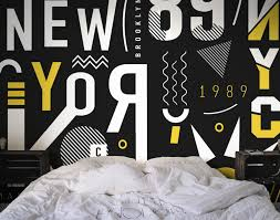 abstract new york city wall mural eazywallz abstract new york city wall mural abstract eazywallz