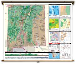 New Mexico State Map by New Mexico State Thematic Classroom Map On Spring Roller From