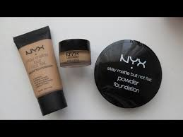 Bedak Nyx nyx stay matte but not flat review demo foundation concealer