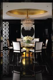 contemporary dining room with chandelier u0026 simple marble tile