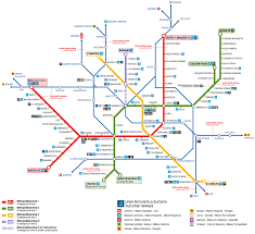 Redline Metro Map by A Simple Guide To Milan Public Transport The Crowded Planet