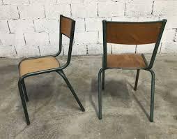 chaise mullca ensemble 30 chaises école mullca patine verte