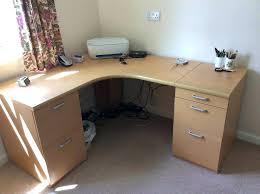 Curved Office Desk Rounded Corner Desk Curved Office Desks With 2 Filing Cabinets