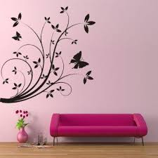 floral stencils for painting different kinds of flower wall