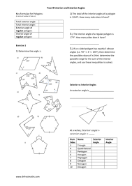 Finding Interior Angles Of A Polygon Worksheet Interior And Exterior Angles Of Polygons By Nnyang Teaching