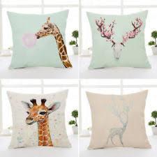 giraffe home décor cushion covers ebay