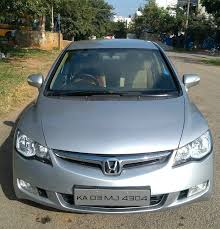 used honda civic 1 8 v mt in bangalore 2008 model india at best