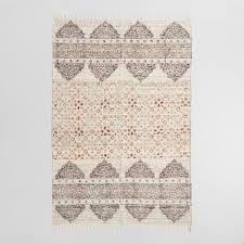 hand block print linen nabila area rug world market