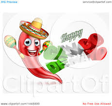 clipart of a 3d mexican flag colored happy cinco de mayo text