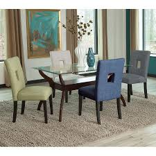 Multi Coloured Chairs by Alyssa Blue Modern Dining Chair Eurway Furniture