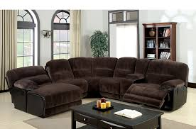 amazon com furniture of america ladden elephant skin microfiber amazon com furniture of america ladden elephant skin microfiber sectional sofa with 2 recliners dark brown kitchen dining