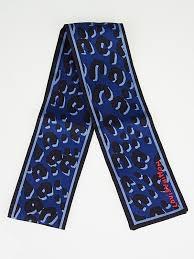 Blue Leopard Print Louis Vuitton Stephen Sprouse Blue Leopard Print Silk Bandeau