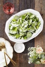 cucumber celery u0026 sweet onion salad with sour cream dressing