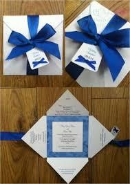 wedding invitations royal blue royal blue bow fold wedding invitation www