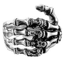 gothic rings silver images Fibo steel stainless steel skull rings for men women vintage jpg